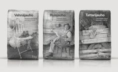 Depot WPF uses hand drawn illustrations to emphasize tradition and history when designing the packaging for Finnish flour brand Myllyn Paras.