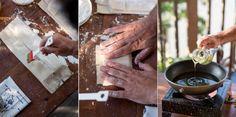 Michalis Plytas preparing the most delicious feta phyllo mezé