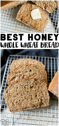 Honey Wheat Bread Recipe is a super simple way to use everyday ingredients to create delicious, hearty whole wheat bread. This Wheat Bread Recipe is perfect for beginner bread makers. Easy Bread Recipes, Baking Recipes, Delicious Bread Recipe, Easy Honey Wheat Bread Recipe, Whole Wheat Flour Bread Recipe, Bread Flour Recipes, Best Whole Wheat Bread, Honey Recipes, Fresh Bread