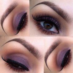 .@c_flower   Just a simple soft purple eye today. Base: @motivescosemtics amethyst gel lin...   Webstagram