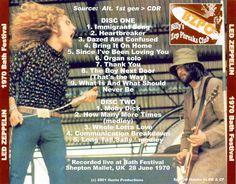 Led Zeppelin   Bootleg of June 28,70 Bath Festival show. Zephead