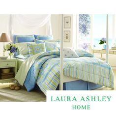 @Overstock - This Laura Sommerset Cotton Comforter Set features a floral print with a stripe border on the end of the comforter. Shams and a solid blue bedskirt are included.http://www.overstock.com/Bedding-Bath/Laura-Ashley-Somerset-100-percent-Cotton-Comforter-Set/7647611/product.html?CID=214117 $89.99