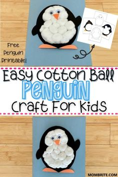 The cutest animal on earth, this Cotton Ball Penguin craft for kids is a fun and easy winter themed craft activity you can do at home! Check out my tutorial here and grab your free penguin template to get started.