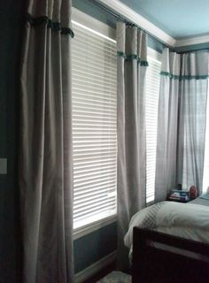 How to lengthen store bought drapes...perfect for my 1920's house!