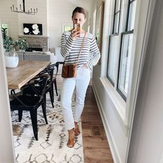 jillgg's good life (for less) | a west michigan style blog: 6 ways to style: white jeans!
