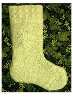 quilted Christmas stocking More