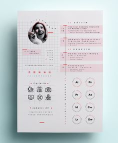 CV, 2 0 1 8 on Behance If you like this cv template. Check others on my CV template board :) Thanks for sharing! Flower Graphic Design, Graphic Design Resume, Graphic Design Trends, Graphic Design Layouts, Freelance Graphic Design, Graphic Design Posters, Modern Graphic Design, Layout Design, Graphic Design Templates
