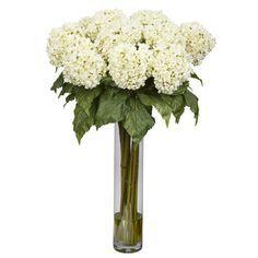 Nearly Natural Hydrangea Silk Floral Arrangements