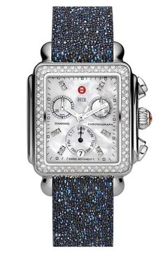 MICHELE 'Deco Diamond' Customizable Watch  available at #Nordstrom