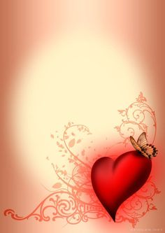Writing Paper: Heart with Butterfly Framed Wallpaper, Flower Background Wallpaper, Frame Background, Heart Wallpaper, Butterfly Wallpaper, Cellphone Wallpaper, Flower Backgrounds, Background Images, Wallpaper Backgrounds