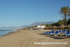The beach just north of Marbella.