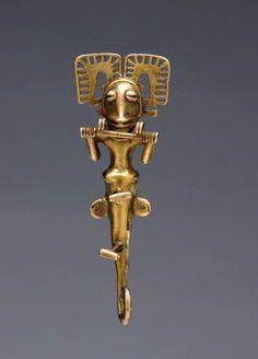 Panama | Pendant, International Style | Cast gold | 5th-7th century