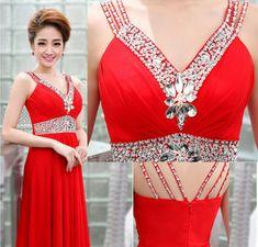 Charming Prom Dress,Chiffon Evening Dress,Formal Evening Dresses,Long Prom