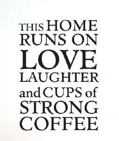 Love + Coffee. I would like this framed and put in my dream house someday