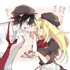 __________________________________________________________________ ¿C… # Fanfic # amreading # books # wattpad Fan Anime, Anime Love, Anime Guys, Angel Of Death, Cute Couple Comics, Satsuriku No Tenshi, Fanart, Anime Angel, Anime Ships