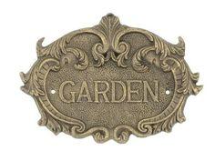 Cast Iron Garden Plaque