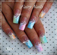 Fairy nails inspiration nails nails, nail art designs et nail designs. Beautiful Nail Designs, Beautiful Nail Art, Fingernail Designs, Nail Art Designs, Easter Nail Designs, Fabulous Nails, Gorgeous Nails, Fancy Nails, Trendy Nails