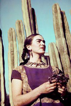 Frida Kahlo, c.1940. Photo by Ivan Dmitri, Michael Ochs Archives, .