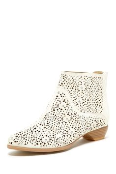 Maker's Shoes Esther Lasercut Ankle Bootie