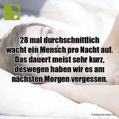 Unbewusst wachen wir beim Schlafen ca. 28 Mal jede Nacht kurzzeitig auf.