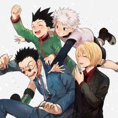 Leorio, Gon, Killua, and Kurapika       ~Hunter X Hunter