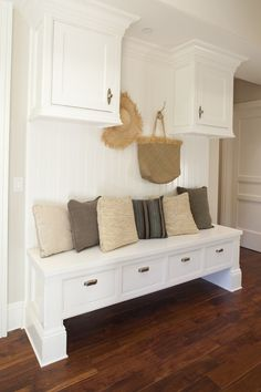 Get Beautiful Mudroom with Mudroom Bench Plans : White Modroom Bench Design Do. Get Beautiful Mudroom with Mudroom Bench Plans : White Modroom Bench Design Don. Built In Bench, Bench With Storage, Bench Seat, Foyer Storage, Small Bench, Extra Storage, Mudroom Bench Plans, Entry Bench, Dutch Colonial Homes