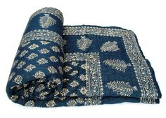Vihaan Impex Indian Jaipuri Quilt With Authentic Handblock Print Cotton Filling Double Bed Size Quilt Best Quilted Comforter, Set USA Double Bed Size, Double Beds, Urban Outfitters, Gypsy Home Decor, Indian Bedding, Shabby, Single Quilt, Indian Textiles, Art