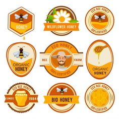 Discover thousands of Premium vectors available in AI and EPS formats Honey Logo, Honey Label, Sketch Background, Bee Farm, Bee Design, Vector Photo, Vintage Labels, Logo Design Inspiration, Logos
