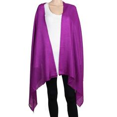 100% pure pashmina cashmere fabric; no blending.Size: 28 x 80 InchesColor : PurpleAlways dry clean only. No hand or machine washesMade in IndiaThis item can be shipped to US and Europe...