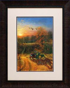 "Title:  Harvest Break Retail Price: $138.00 Artist: Barnhouse, Dave Outside Dimension: 23x29 Frame: 2.5"" brown scoop Product Code: N1194"