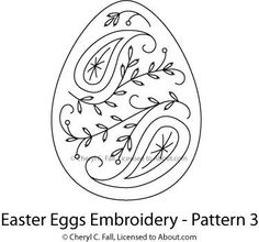 Easter Egg 4-Piece Embroidery Pattern Set - Free Easter Egg Embroidery Patterns