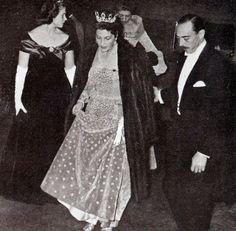 Isabelle, Countess of Paris, wearing the sapphire tiara of Queen Marie Amelie.