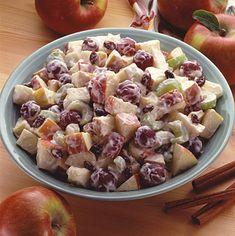 Honey Apple Salad Recipe from Land O'Lakes - use greek yogurt instead of sour cream to make it healthier