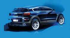 Qoros has unveiled the first design sketches of its third production model, the Qoros 3 City SUV, that will make its debut at the Guangzhou International Automobile Exhibition. Car Repair Service, Auto Service, Car Design Sketch, Car Sketch, Car Buying Guide, Compact Suv, Motorcycle Design, Car Drawings, Latest Cars