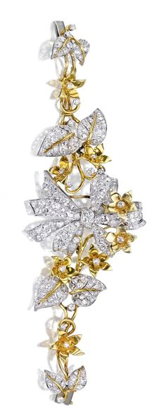 18 KARAT GOLD, PLATINUM & DIAMOND BRACELET