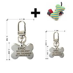 Pething Stainless Steel Dog Id Tag Attaching Pething Hook Free Bone Toys Gift Free Engraving on Front and Back Text Four Shapes Two Sizes Pet Id Tags ** Find out more about the great product at the image link.(This is an Amazon affiliate link and I receive a commission for the sales)