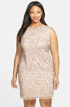 Adrianna+Papell+Beaded+Sleeveless+Cocktail+Dress+(Plus+Size)+available+at+#Nordstrom