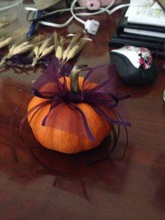 Ring bearer pumpkin for fall wedding