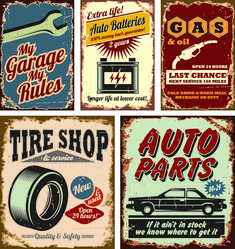 Different Car Service Labels vector 04