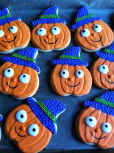 Halloween witch pumpkin cookies