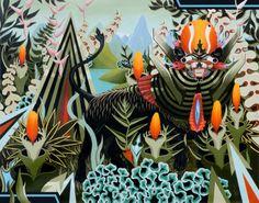 Leão Escuro (2009)  Tinta acrílica sobre Linho  200cm x 160cm    Coleção particular