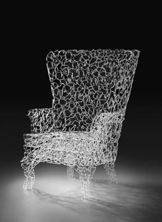 Glass Wing Chair