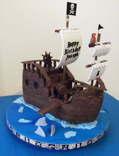 Pirate Ship Cake - back view | Flickr - Photo Sharing!