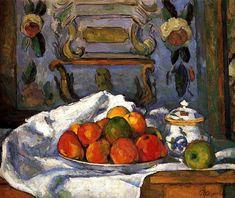 Dish of Apples Paul Cezanne - circa 1875-1877