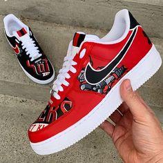 nike shoes on Mercari Black Nike Shoes, Nike Air Shoes, Nike Shoes Outfits, Air Force One Shoes, Nike Air Force 1, Kicks Shoes, Shoes Sneakers, Custom Sneakers, Zapatillas Nike Air Force