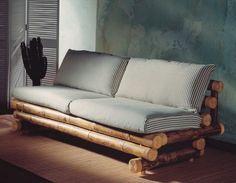 sunroom Bamboo furniture creates a retro-Mebel Bamboo sofa Bamboo Sofa, Bamboo Furniture, Home Furniture, Furniture Design, Furniture Stores, Cheap Furniture, Bamboo House, Bamboo Tree, Bamboo Architecture