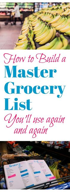 Grocery shopping is always a drag for me so I found a way to make it a bit cheerier and a ton more efficient. I created this master grocery list in my bullet journal so I can use it again and again. Planners, To Do Planner, Passion Planner, Planner Ideas, Meal Planner, Weekly Planner, Life Planner, Lists To Make, How To Make