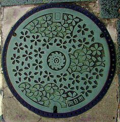Manhole covers in Japan are varied, unique and pretty in their design.