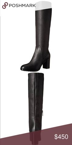 "Aquatalia Women's Edlyn Winter Boot Leather  Imported  Dyed Sheep Fur (Fur Origin: Turkey)  Leather and Rubber sole  Shaft measures approximately 17.25"" from arch  Heel measures approximately 2.75""  Platform measures approximately 0.5 inches Aquatalia Shoes Heeled Boots"