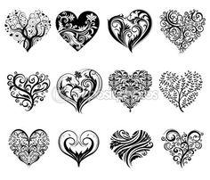 Tatouage coeurs — Illustration #61857943